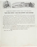 Political:Small Paper (pre-1896), William Henry Harrison: Wonderful Election-Eve Circular....
