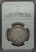 Early Half Dollars, 1795 50C 2 Leaves, O-104, T-24, R.4, Good 6 NGC....