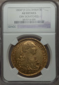 Colombia, Colombia: Charles IV gold 8 Escudos 1804 P-JF AU Details (Obverse Scratched) NGC,...