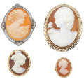 Estate Jewelry:Lots, Shell Cameo, Gold Jewelry. ...