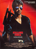 "Movie/TV Memorabilia:Posters, Cobra (Warner Brothers, 1986). French Grande Movie Poster (45.5"" X62""). ..."