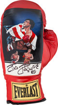 "Movie/TV Memorabilia:Memorabilia, A Signed Commemorative Boxing Glove Related to ""Rocky IV.""..."