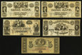 Obsoletes By State:Louisiana, A Nice Assortment of Remainders from the Canal Bank of New Orleans, LA.. ... (Total: 5 notes)