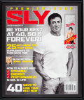 "Movie/TV Memorabilia:Original Art, An Enlarged Magazine Cover from ""Sly,"" 2005...."