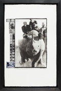 "Movie/TV Memorabilia:Photos, A Peter Beard Signed Limited Edition Print Titled ""Rhino Roping65-66,"" 2000...."