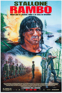 "Rambo (Lionsgate, 2008) Signed Rare Movie Poster Print (24"" X 36"")"