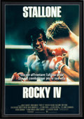 "Movie/TV Memorabilia:Posters, Rocky IV (MGM/UA, 1985) Framed Italian 2-Foglio Movie Poster (39"" X 55"")...."