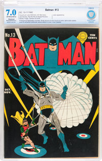 Batman #13 (DC, 1942) CBCS Restored Moderate/Extensive FN/VF 7.0 Off-white to white pages