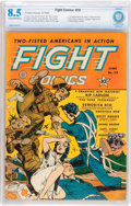 Golden Age (1938-1955):War, Fight Comics #19 (Fiction House, 1942) CBCS VF+ 8.5 Cream to off-white pages....