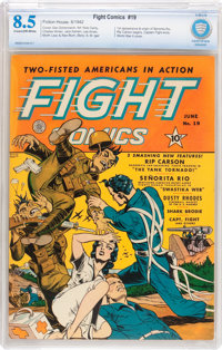 Fight Comics #19 (Fiction House, 1942) CBCS VF+ 8.5 Cream to off-white pages