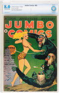 Golden Age (1938-1955):Adventure, Jumbo Comics #53 (Fiction House, 1943) CBCS VF 8.0 Cream to off-white pages....