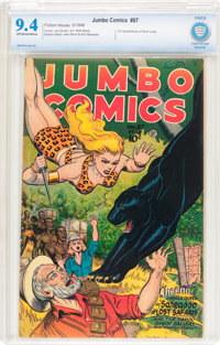 Jumbo Comics #87 (Fiction House, 1946) CBCS NM 9.4 Off-white to white pages