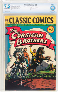 Classic Comics #20 The Corsican Brothers - First Edition (Gilberton, 1944) CBCS VF- 7.5 Off-white to white pages