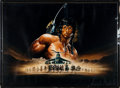 """Movie/TV Memorabilia:Posters, A Metal Poster Related to """"Rambo,"""" Circa 1980s...."""