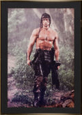 "Movie/TV Memorabilia:Posters, A Color Image Related to ""Rambo: First Blood Part II.""..."