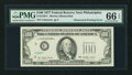 Error Notes:Obstruction Errors, Fr. 2168-C $100 1977 Federal Reserve Note. PMG Gem Uncirculated 66EPQ.. ...