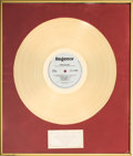 "Movie/TV Memorabilia:Awards, A Gold Record Award for ""First Blood - Original Motion PictureSoundtrack,"" 1983-1984...."