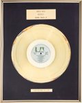 "Movie/TV Memorabilia:Awards, A Gold-Plated Disc from the Soundtrack to ""Rocky.""..."