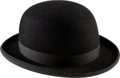"Movie/TV Memorabilia:Costumes, A Bowler Hat from ""Oscar.""..."