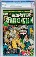 Bronze Age (1970-1979):Horror, Frankenstein #1 (Marvel, 1973) CGC NM 9.4 Off-white to whitepages....