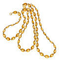 Estate Jewelry:Necklaces, Citrine, Gold Necklace, Piranesi. ...