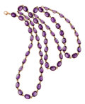Estate Jewelry:Necklaces, Amethyst, Gold Necklace, Piranesi. ...