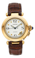 Estate Jewelry:Watches, Cartier Gentleman's Gold Pasha Automatic Watch. ...