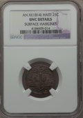 Haiti, Haiti: Western Republic 25 Centimes An XI (1814) UNC Details (Surface Hairlines) NGC,...