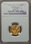 Italy:Florence, Italy: Florence. Republic (1252-1532) gold Fiorino d'oro 1252-1303XF Details (Graffiti) NGC,...