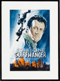 "Movie/TV Memorabilia:Original Art, A Watercolor Related to ""Cliffhanger.""..."