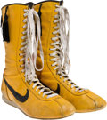 """Movie/TV Memorabilia:Costumes, A Pair of Boxing Shoes from """"Rocky III.""""..."""