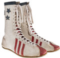 "Movie/TV Memorabilia:Costumes, A Carl Weathers as ""Apollo Creed"" Pair of Boxing Shoes from ""Rocky.""..."