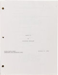 "Movie/TV Memorabilia:Documents, A Script from ""Rocky IV.""..."