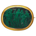 Estate Jewelry:Brooches - Pins, Hardstone Cameo, Gold Brooch. ...