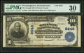 National Bank Notes:Pennsylvania, Downingtown, PA - $10 1902 Plain Back Fr. 626 The Grange NB of Chester County Ch. # 8646. ...