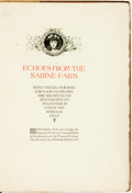 Books:Literature Pre-1900, Eugene and Roswell M. Field. Edmund H. Garrett, illustrator.Association Copy of Echoes from the Sabine Farm. New Ro...