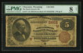National Bank Notes:Wyoming, Cheyenne, WY - $5 1882 Brown Back Fr. 477 The Stock Growers NB Ch. # (W)2652. ...