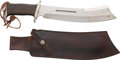 "Movie/TV Memorabilia:Props, ""Rambo IV"" Prototype Gil Hibben Bowie Knife / Machete with SignedLeather Scabbard...."