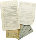 Music Memorabilia:Autographs and Signed Items, Betty Everett and Jerry Butler Signed Documents and Telegrams.Included are a letter Vee-Jay Records from the accountant of...