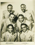 Music Memorabilia:Autographs and Signed Items, Sam Cooke Signed Soul Stirrers Photo. One of the premier Gospel groups of the modern era, the Soul Stirrers were pioneers of...