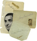 Music Memorabilia:Autographs and Signed Items, Great Composers Autograph Group. Included are signatures from OscarHammerstein, Hoagy Carmichael, and Irving Berlin. Overal...