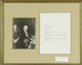 Music Memorabilia:Autographs and Signed Items, Jerome Kern Signed Letter with Photograph. Arguably the father ofmodern American musical theater, Jerome Kern entered the s...