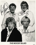 Music Memorabilia:Autographs and Signed Items, Moody Blues - Signed Promo Photo One of the enduring acts ofBritish Rock are the Moody Blues, known for combining Rock, Ele...