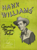 Music Memorabilia:Autographs and Signed Items, Hank Williams Sr. Signed Songbook. The father of contemporarycountry music, Hank Williams was a star by the age of 25, and...