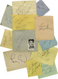 Music Memorabilia:Autographs and Signed Items, Jazz Greats Autograph Group. Included are signatures from JimmyDorsey, Ella Fitzgerald, Buddy Rich, Dick Haymes, Dizzy Gill...