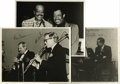 "Music Memorabilia:Autographs and Signed Items, Bobby Hackett, Vic Dickensen, Buddy Tate, Al Grey, Kenny Davern,and Bob Wilber, Autographed Al White ""Jazz Party"" Silver Prin...(Total: 3 Items)"