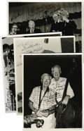 "Music Memorabilia:Autographs and Signed Items, Jerry Jerome, Bob Haggart, Max Kaminsky, Bob Wilber, Al Klink, andYank Lawson, Autographed Al White ""Jazz Party"" Silver Print...(Total: 4 Items)"