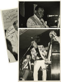 """Music Memorabilia:Autographs and Signed Items, Ray McKinley, Bob Haggart, Jay McShann, and Butch Miles,Autographed Al White """"Jazz Party"""" Silver Prints, Group of 3(1984-199... (Total: 3 Items)"""