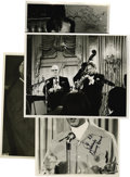 "Music Memorabilia:Autographs and Signed Items, Flip Phillips, Joe Venuti, Zoot Sims, Teddy Wilson, and TrummyYoung, Autographed Al White ""Jazz Party"" Silver Prints, Group o...(Total: 4 Items)"