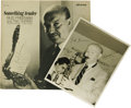 "Music Memorabilia:Autographs and Signed Items, Signed ""Something Tender - Bud Freeman"" United Artists Jazz 15033Stereo LP, with Autographed Al White Silver Print (1963). ..."